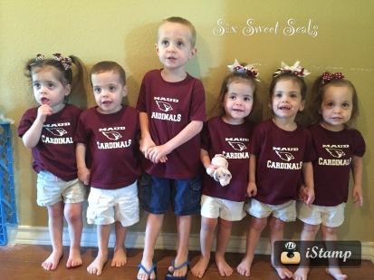 Our Six Little Cardinals